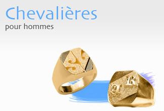Chevalières pour hommes en plaqué or